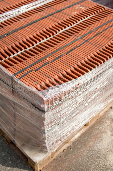 Stack of roofing tiles packaged Stock photo © ifeelstock