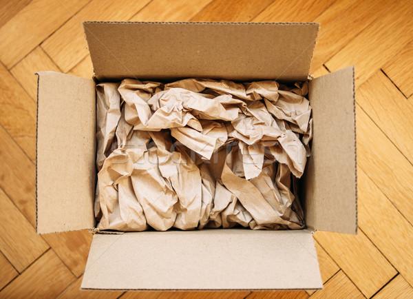 Cardboard box from above Stock photo © ifeelstock