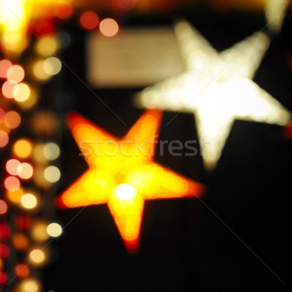 Natale stelle decorazioni colorato bella bokeh Foto d'archivio © ifeelstock