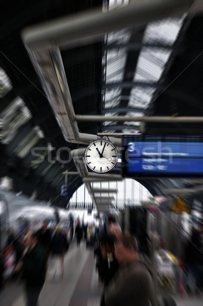 Clock in Railorad Grand Central Station. Frankfurt am Main, Germany Stock photo © ifeelstock