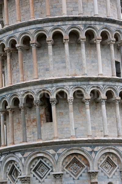 Detail of leaning Tower of Pisa Stock photo © ifeelstock