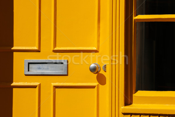 Traditional Georgian architecture yellow doorway Stock photo © ifeelstock