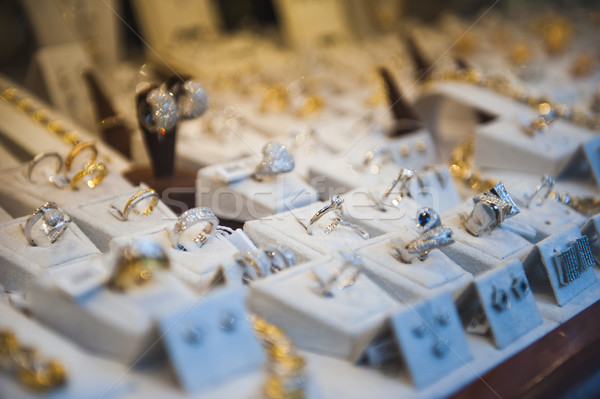 Jewelry shop window display Stock photo © ifeelstock