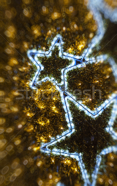 Golden Christmas defocused background Stock photo © ifeelstock