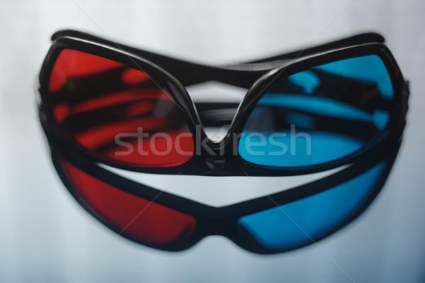 3d szemüveg kék piros lencse szemüveg színes Stock fotó © ifeelstock