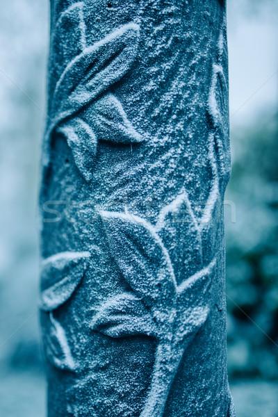 Rime on street light ornament Stock photo © ifeelstock