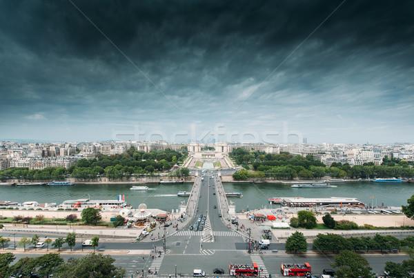 パリ スカイライン ラ 海洋 フランス ストックフォト © ifeelstock