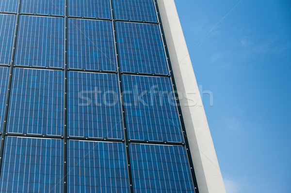 Azul solar panel células pared sol Foto stock © ifeelstock