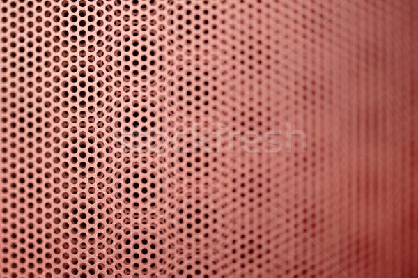 Red metal grill seamless pattern Stock photo © ifeelstock