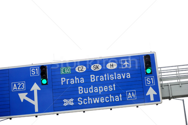 European highway sign Stock photo © ifeelstock