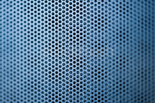 Blue construction metal grill Stock photo © ifeelstock