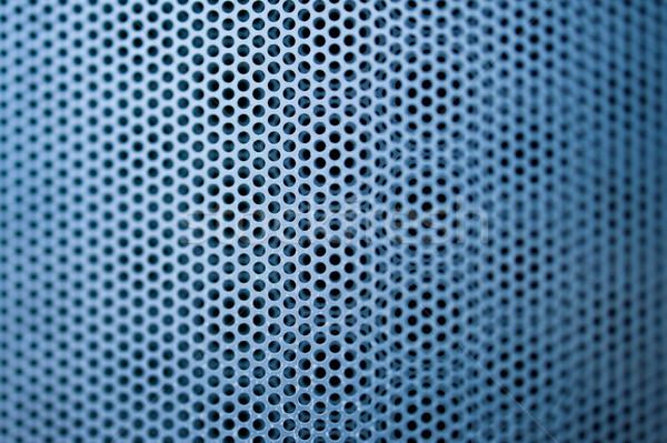 Blu costruzione metal grill poco profondo Foto d'archivio © ifeelstock