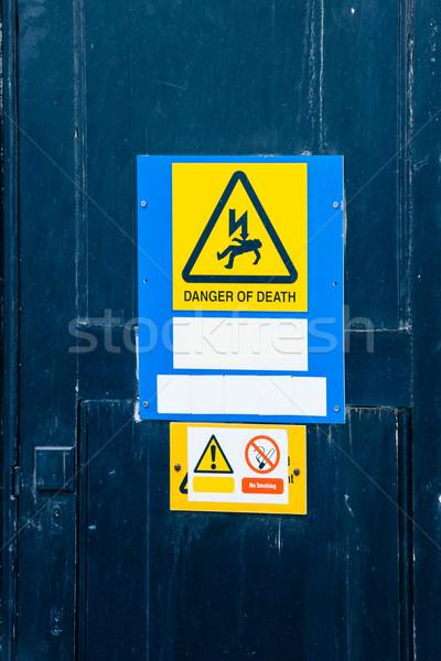 Electrical hazard labels Stock photo © ifeelstock
