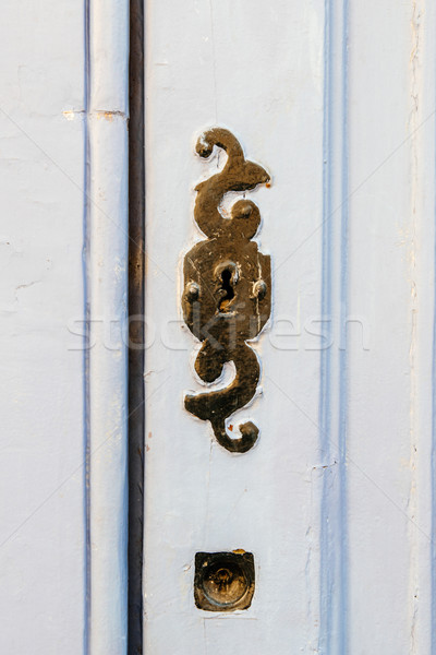 Vintage copper keyhole Stock photo © ifeelstock