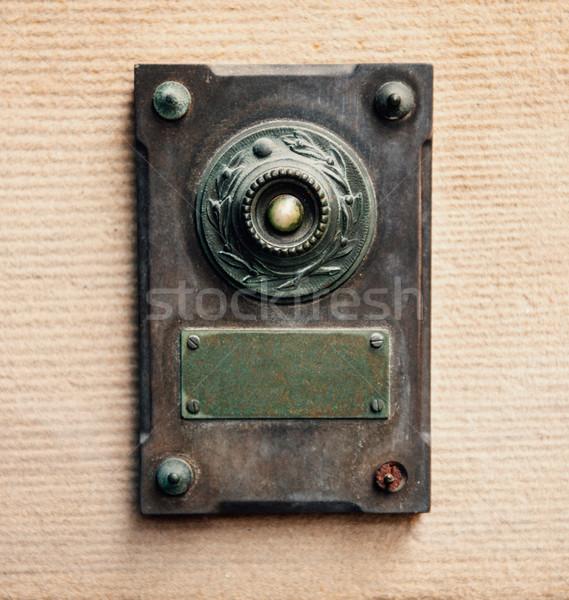 Sonnette vintage style acier cuivre maison Photo stock © ifeelstock