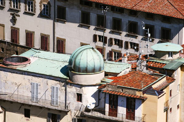 Kopuła teleskop miasta dachu powyżej starych Zdjęcia stock © ifeelstock