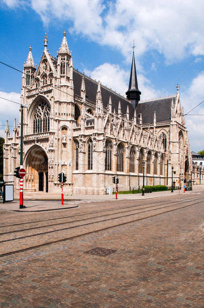 Blessed Lady of the Sablon Church in Brussels, Belgium Stock photo © ifeelstock