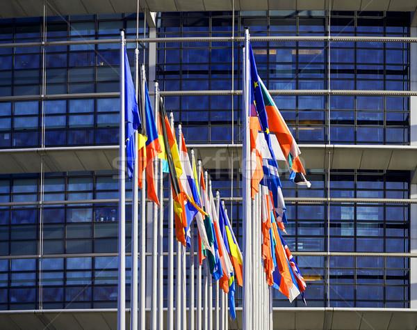 All European Union Flags Strasbourg Strasburg Stock photo © ifeelstock