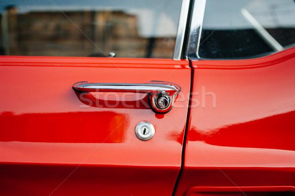Dettaglio vintage rosso auto gestire Foto d'archivio © ifeelstock