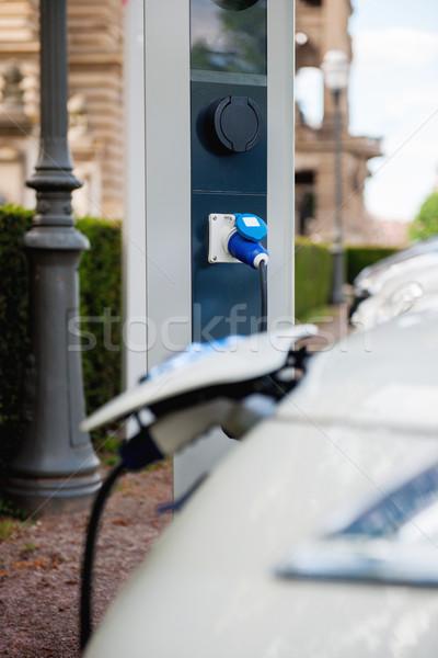 無料 駅 電気自動車 車 技術 ケーブル ストックフォト © ifeelstock