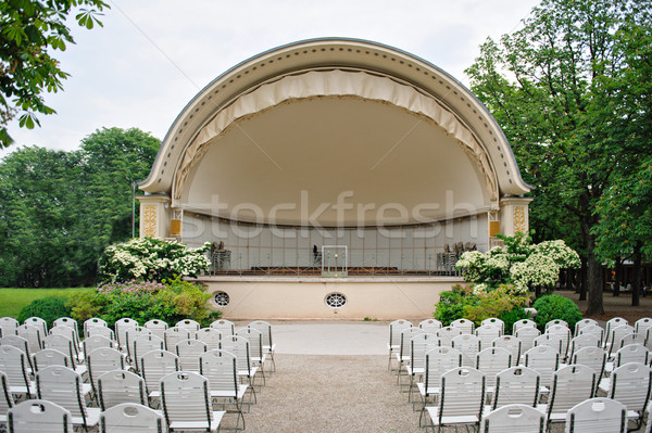 Band shell outdoor amfitheater klassiek witte Stockfoto © ifeelstock