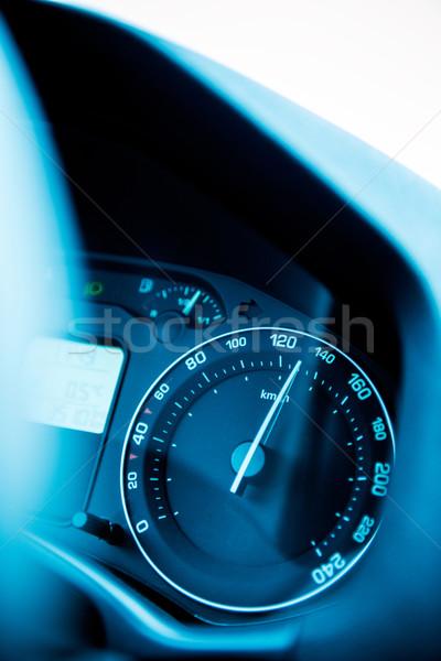 Speedometer close-up with excesive speed Stock photo © ifeelstock
