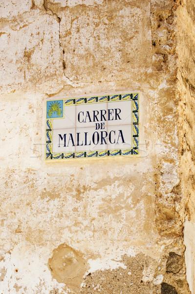 Carrer de Mallorca street name Stock photo © ifeelstock