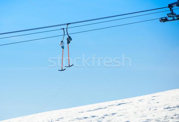 スキー リフト 空 風景 技術 スポーツ ストックフォト © ifeelstock