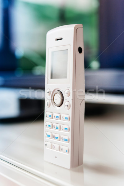 Cordless phone on office table Stock photo © ifeelstock