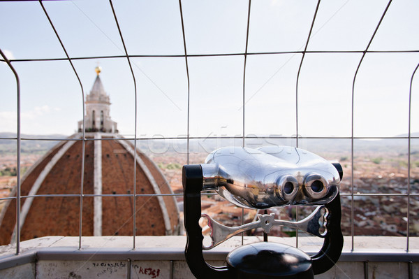 Binoculars overlooking cityscape Stock photo © ifeelstock