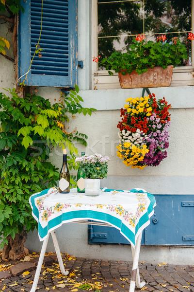 Bella outdoor frazione strada tavola fuori Foto d'archivio © ifeelstock