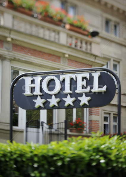 Hotel sign Stock photo © ifeelstock