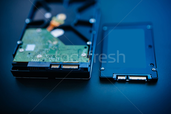 HDD next to SSD Stock photo © ifeelstock