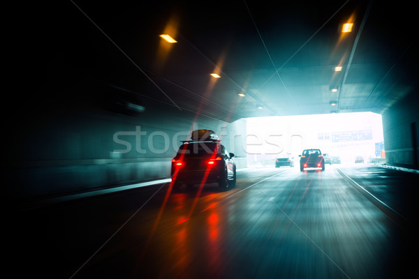 Tunnel drive to light Stock photo © ifeelstock