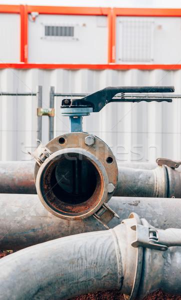 Tubería línea conexión refinería de petróleo personal oficinas Foto stock © ifeelstock