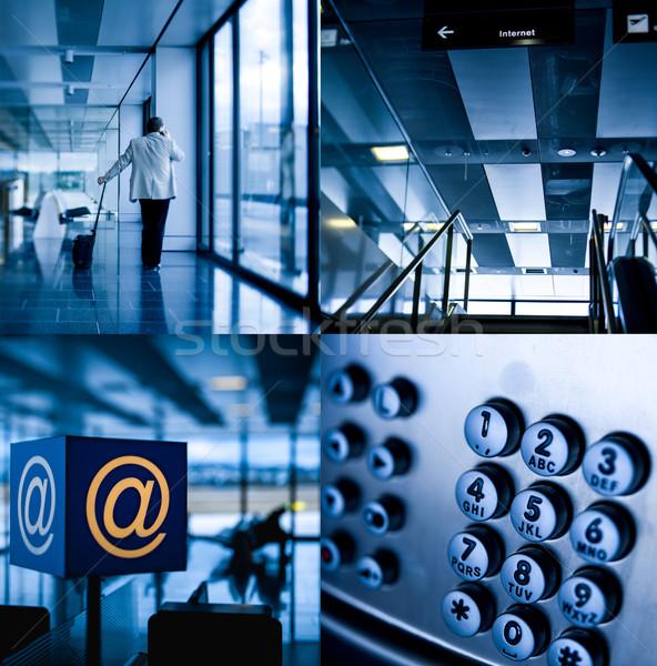 Airport communication mix Stock photo © ifeelstock
