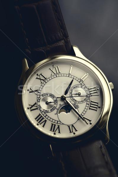 高級 手 時計 革 手首 instagramの ストックフォト © ifeelstock