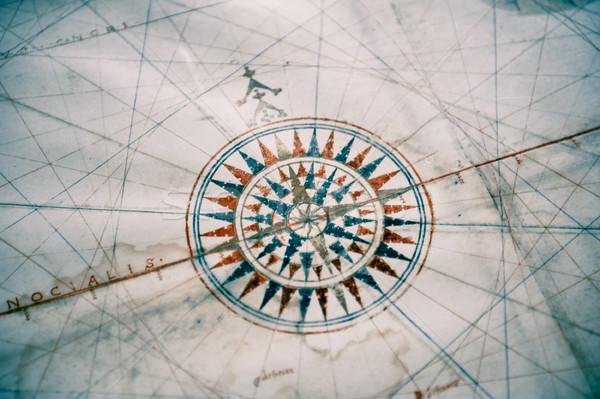 古い ヴィンテージ 地図 コンパス 浅い フィールド ストックフォト © ifeelstock