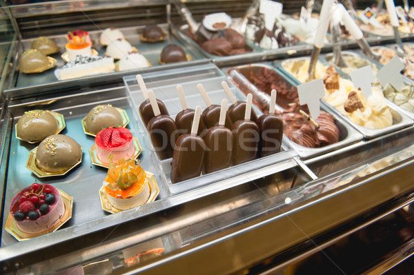 Variety of sweets products at cafe Stock photo © ifeelstock