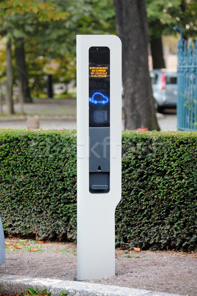 Charging point for electric vehicle Stock photo © ifeelstock