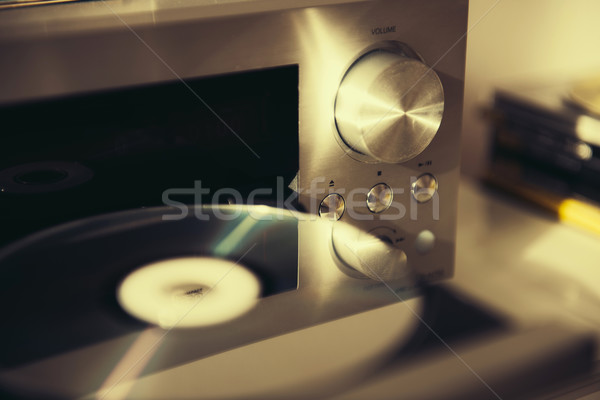 De audio cd jugador vintage humor retro Foto stock © ifeelstock
