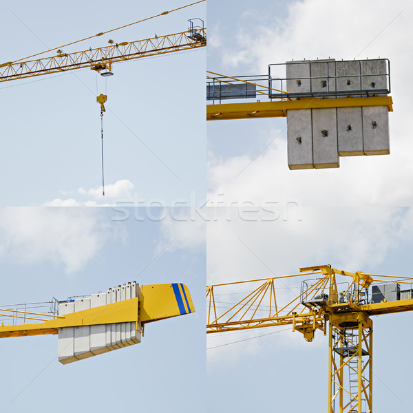 Details of a crane on a construction site. Stock photo © ifeelstock