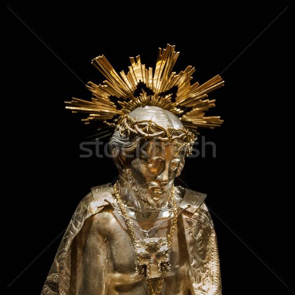 Jesus gold sculpture Stock photo © ifeelstock