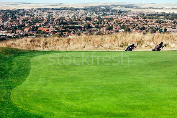 Campo de golfe dois sacos belo ver Foto stock © ifeelstock