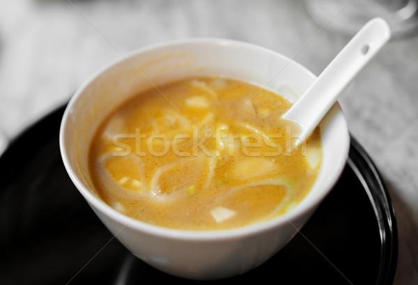 Zuppa servito asian stile ristorante alimentare Foto d'archivio © ifeelstock