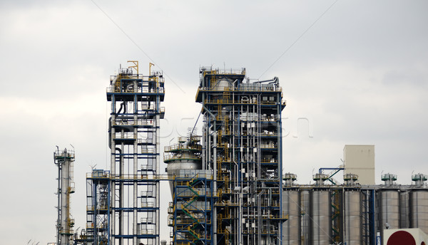 Modern chemical factory, worldwide industry Stock photo © ifeelstock