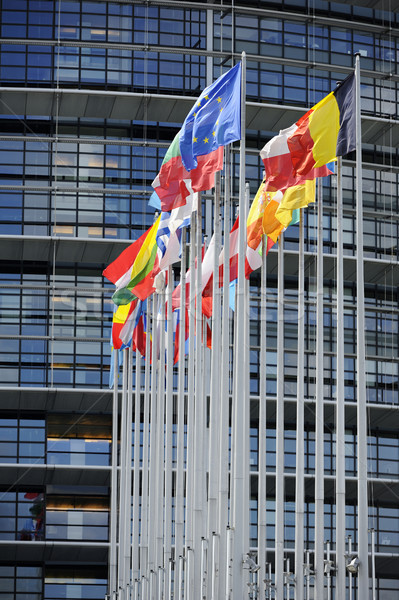 Flags in front of EU Parliament Stock photo © ifeelstock