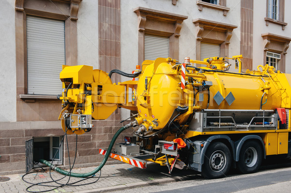 Sewerage truck on street working Stock photo © ifeelstock