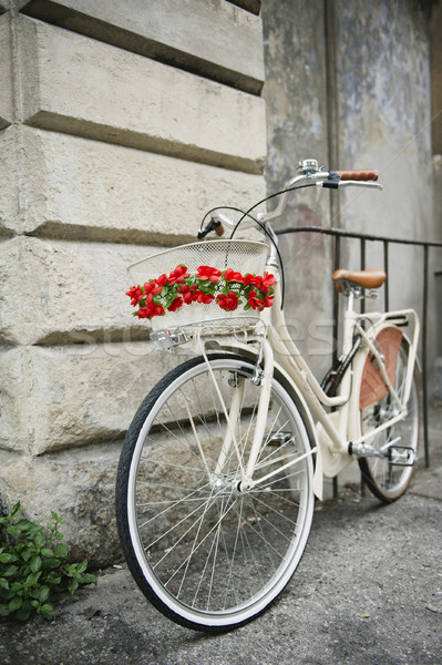 Flowered bike in Italy Stock photo © ifeelstock