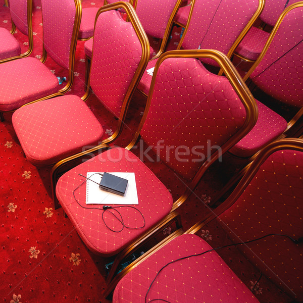 Rows of chairs in conference room Stock photo © ifeelstock